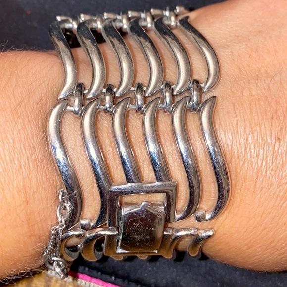 Monet Bracelet Links silver tone